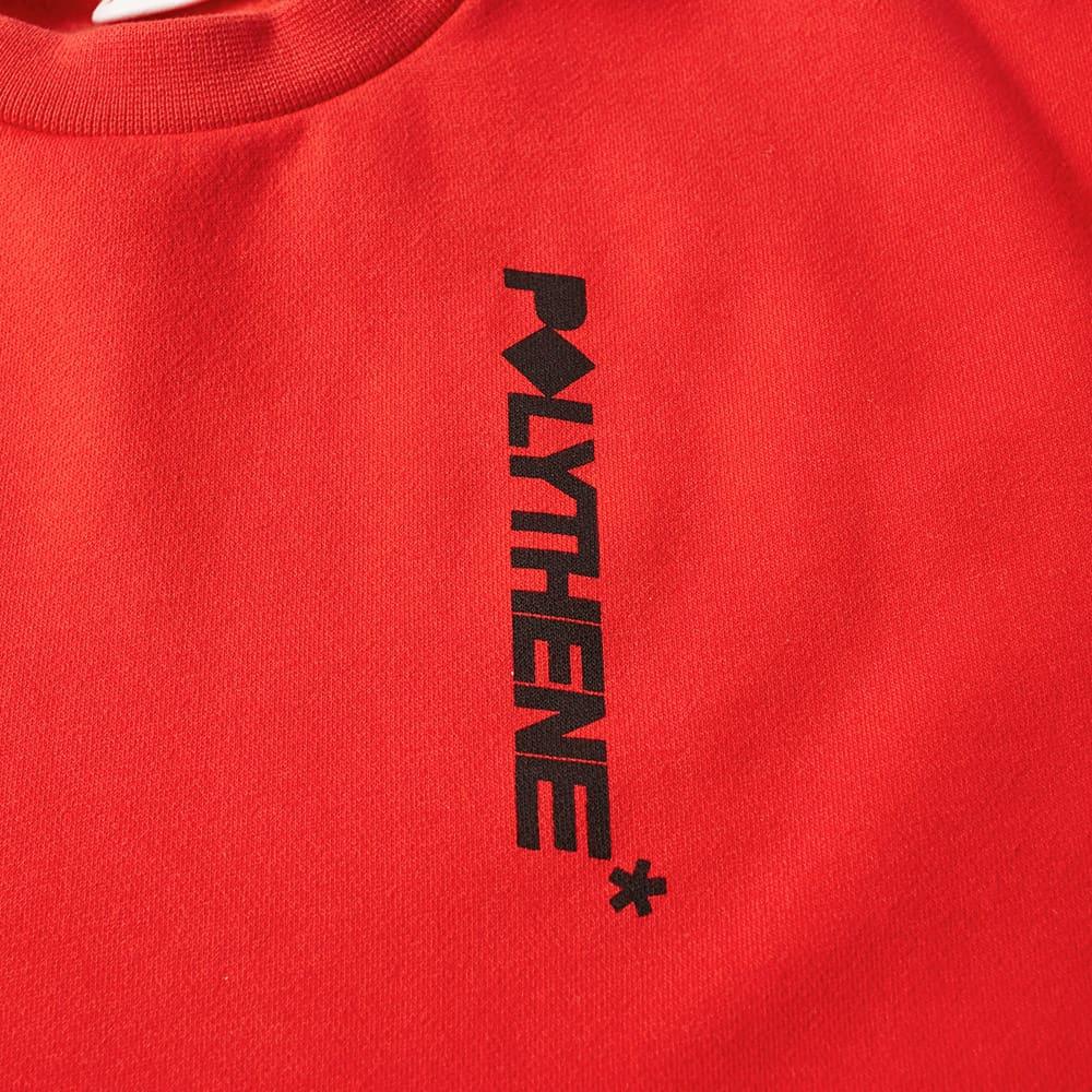 Polythene Optics Logo Crew Sweat - Red & Black