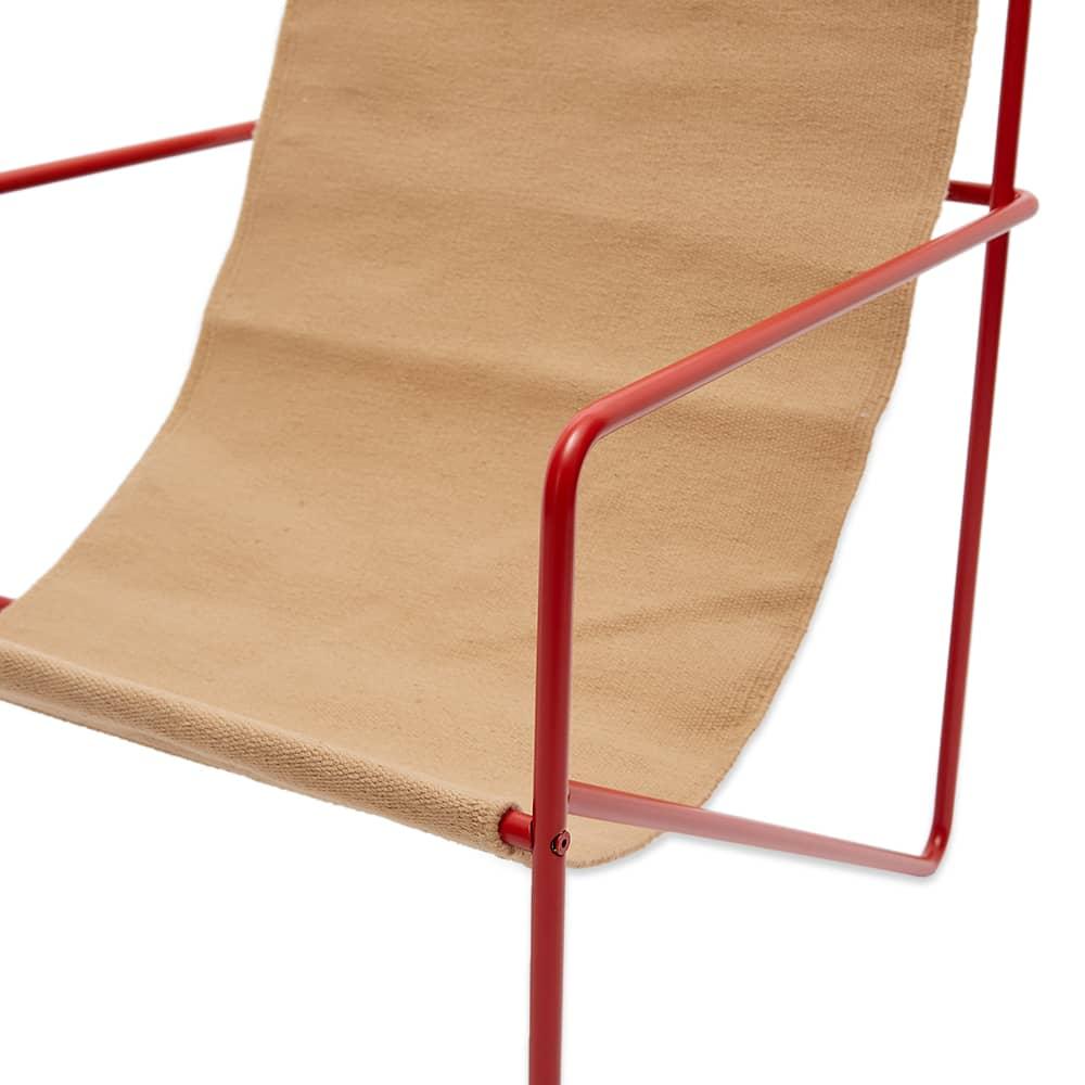 Ferm Living Desert Lounge Chair - Poppy Red & Sand