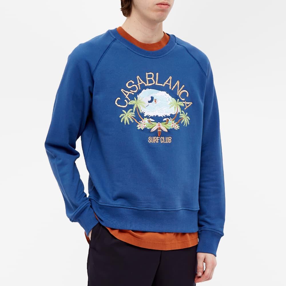 Casablanca Surf Club Embroidered Crew Sweat - Navy