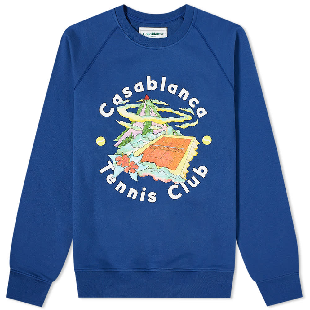 Casablanca Tennis Club Island Crew Sweat - Navy