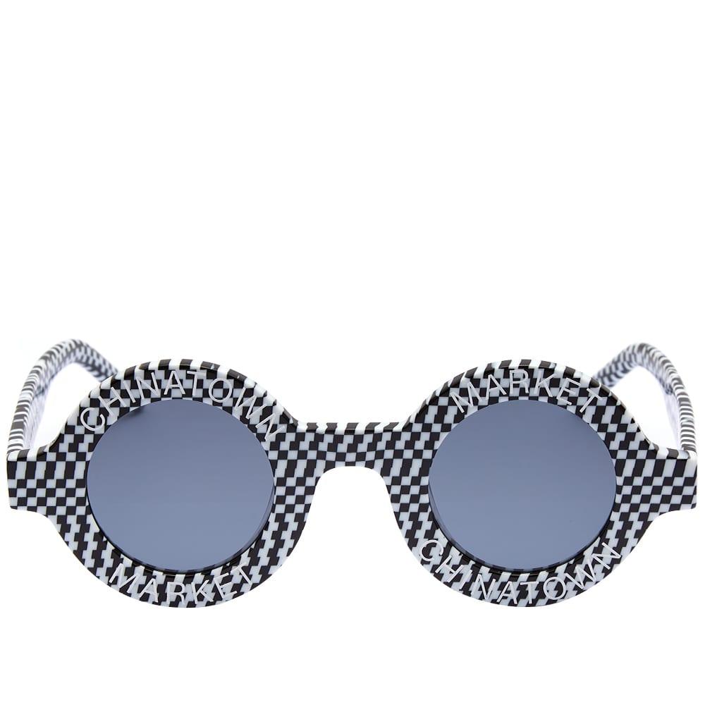 AKILA x Chinatown Market Coco Sunglasses - Black & White