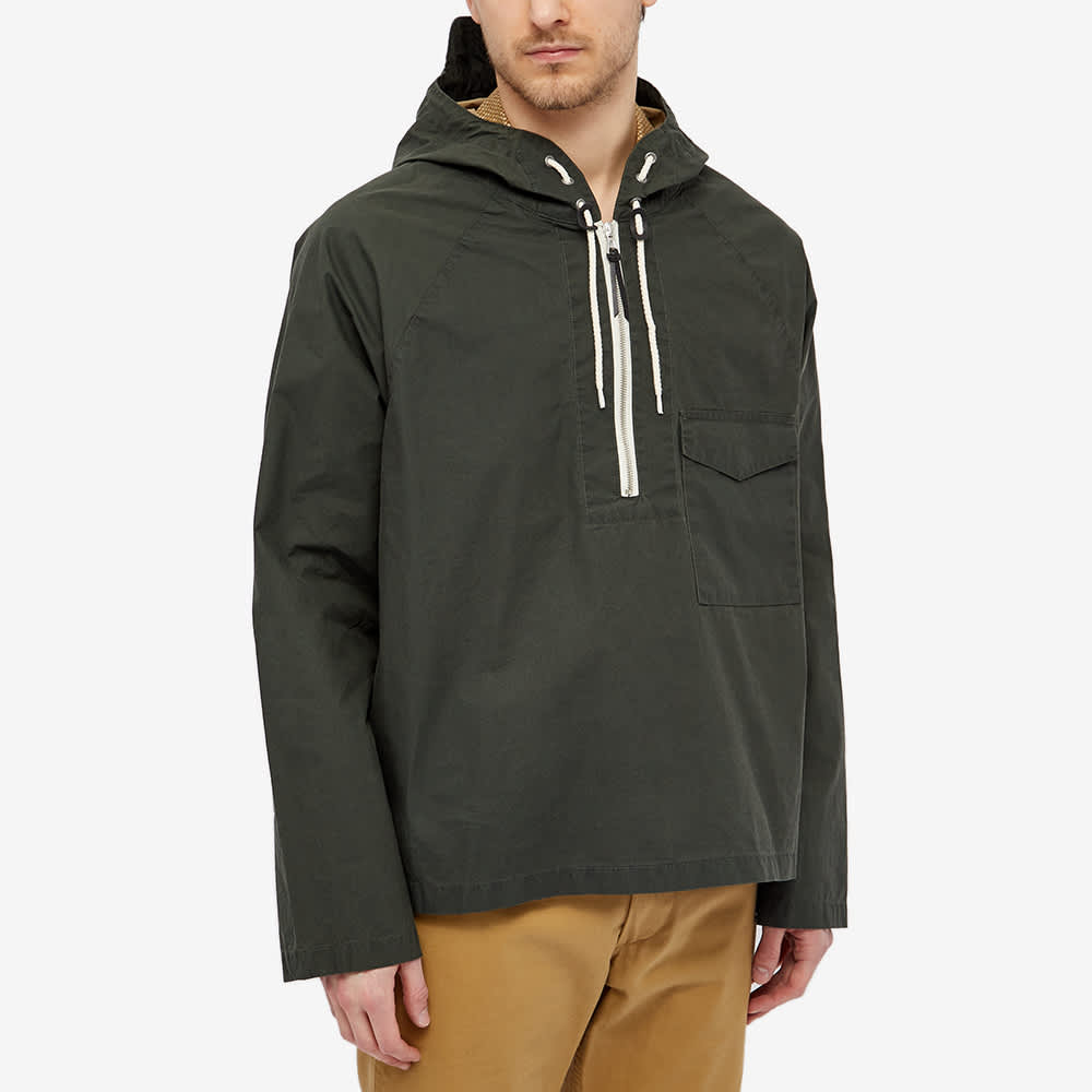 Albam Boardman Half Zip Popover Jacket - Olive