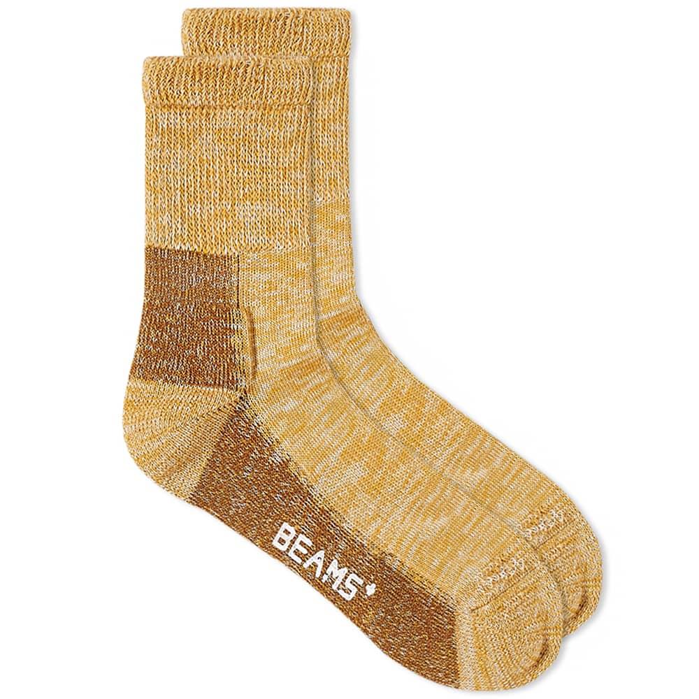 Beams Plus Outdoor Sock - Yellow