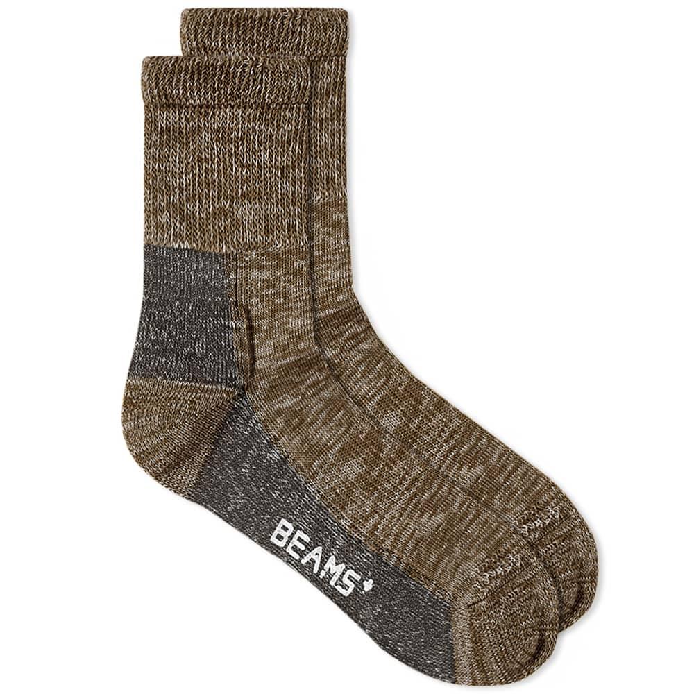 Beams Plus Outdoor Sock - Green