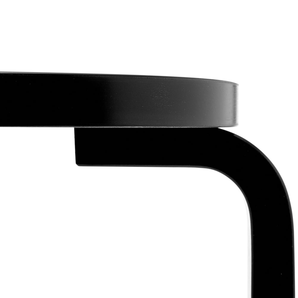 Artek Alvar Aalto 1933 Stool 60 - Black Lacquer