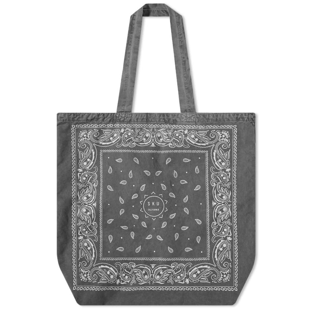 Save Khaki Bandana Print Tote - Black