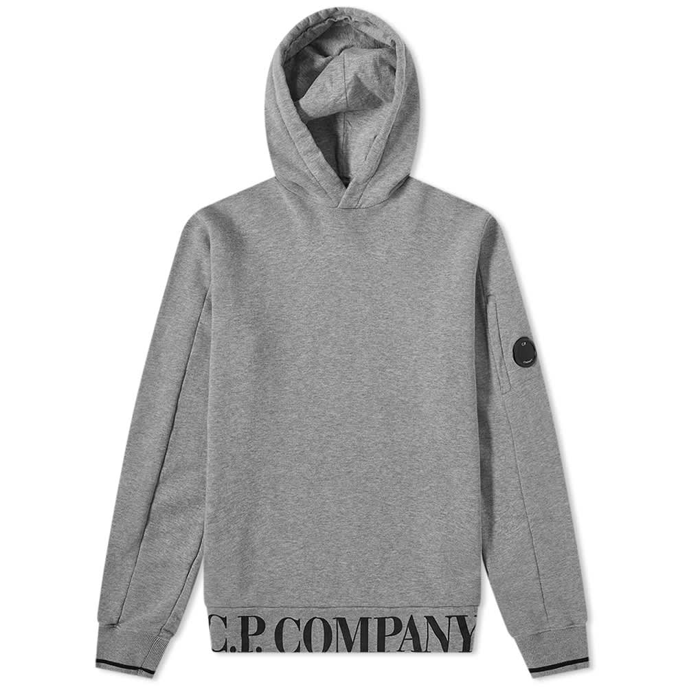 C.P. Company Undersixteen Hem Logo Popover Hoody - Grey Melange