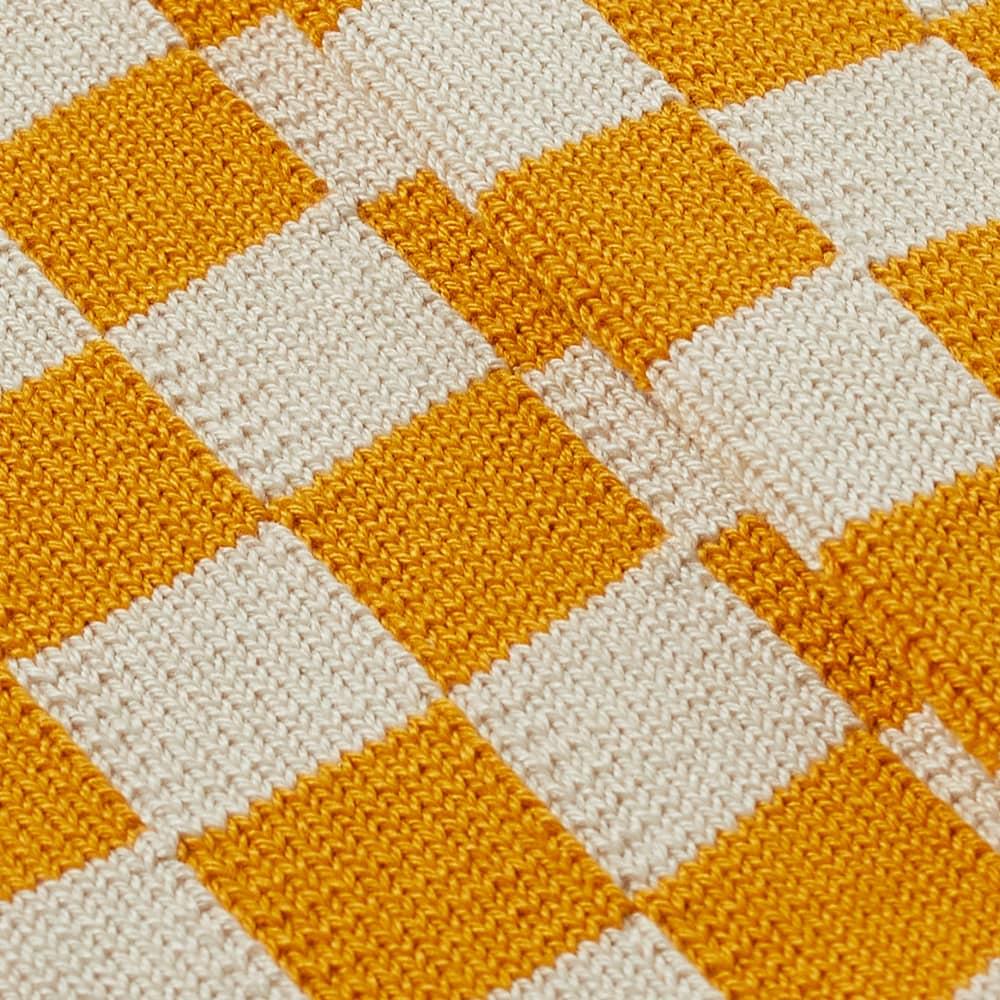 RoToTo Checkerboard Crew Socks - Ivory & Yellow