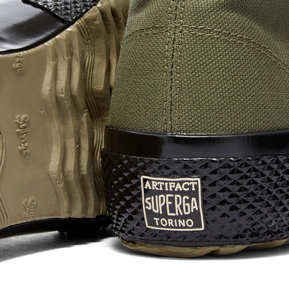 Artifact By Superga 2435-Ms Japanese Canvas High - Military Green, Black