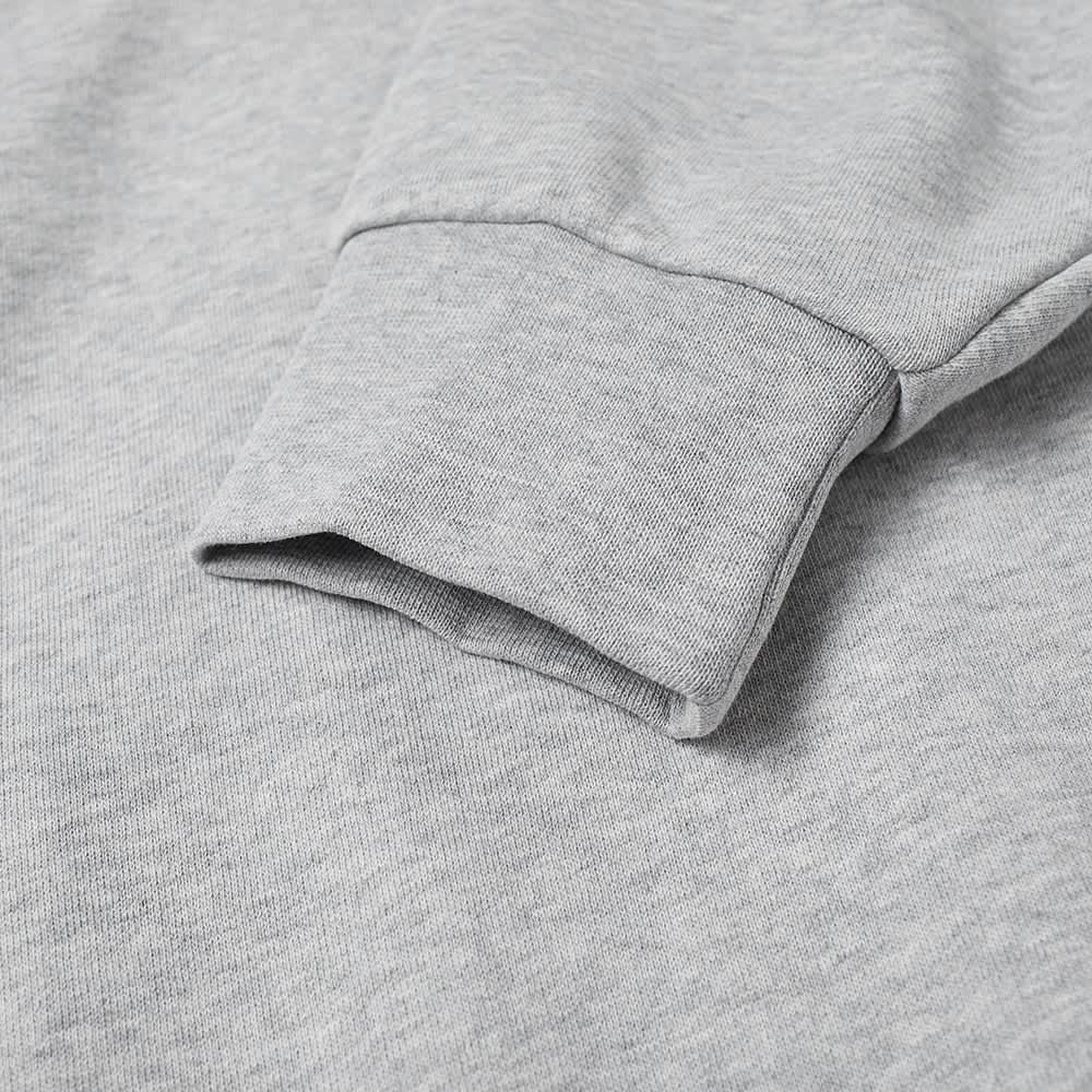 Lacoste Block Stripe Crew Sweat - Silver Marl, White & Black