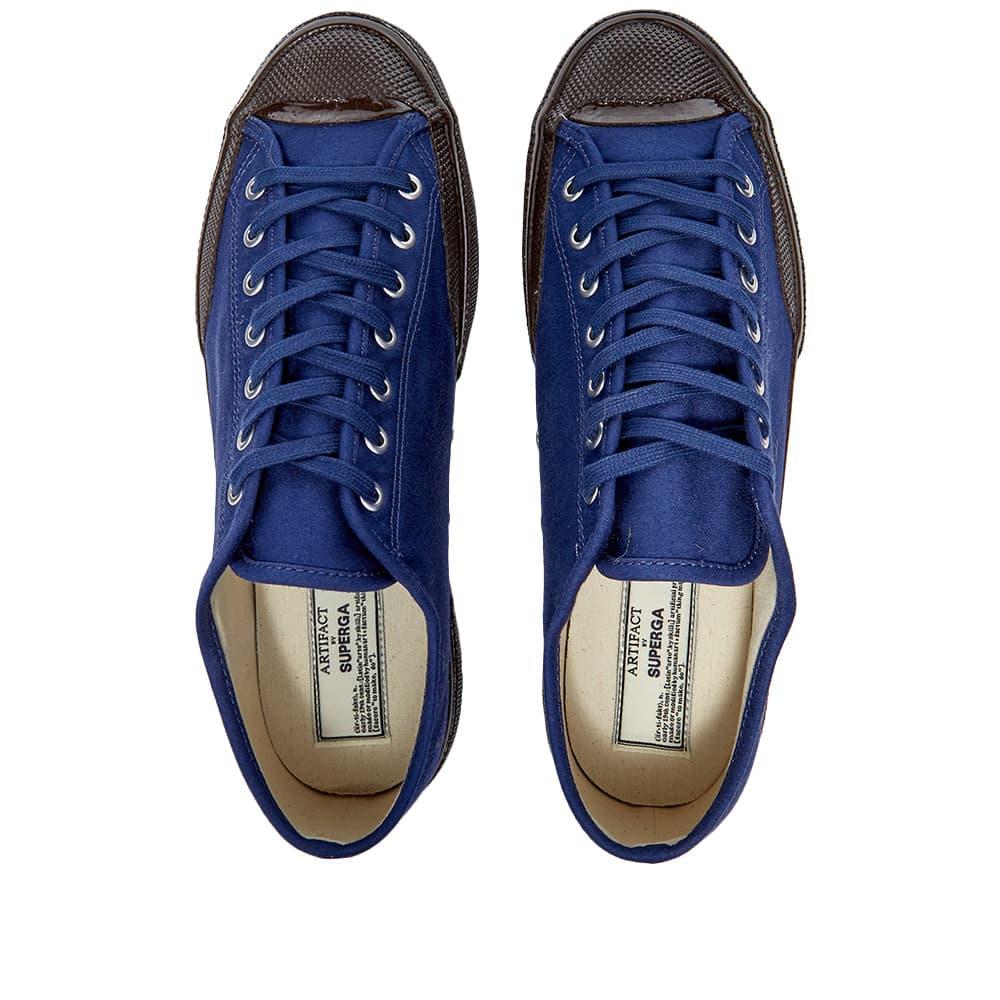 Artifact By Superga 2432-W Moleskin Low - Royal Blue ,  Brown