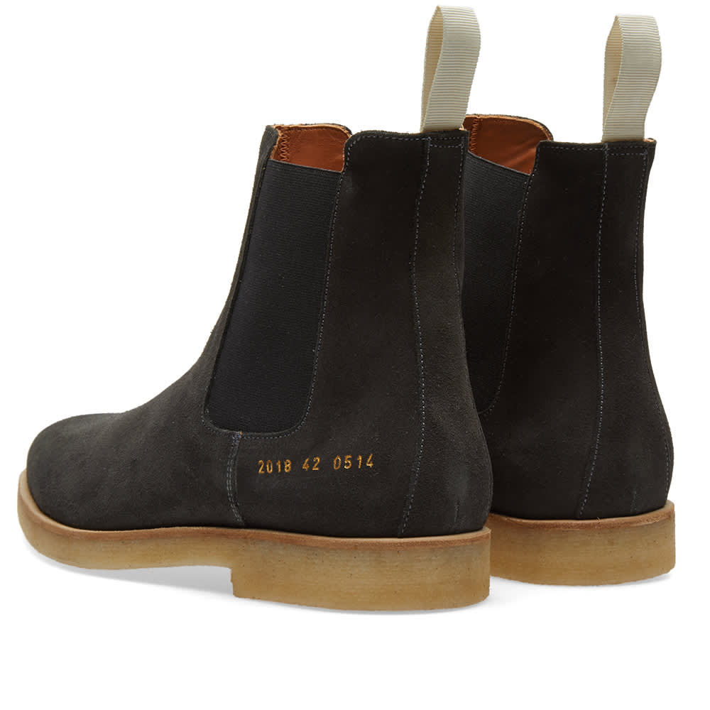 Common Projects Chelsea Boot Suede - Washed Black