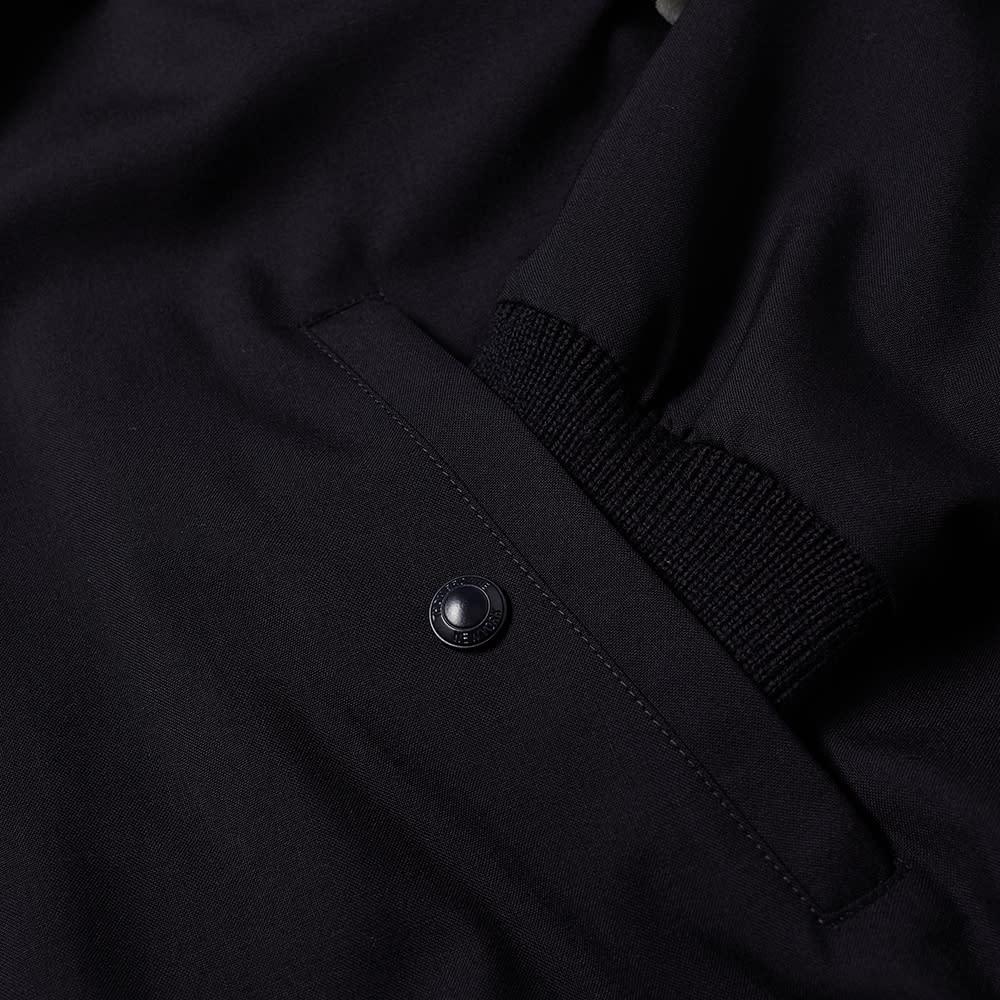 Thom Browne 4 Bar Wool Zip Bomber Jacket - Navy