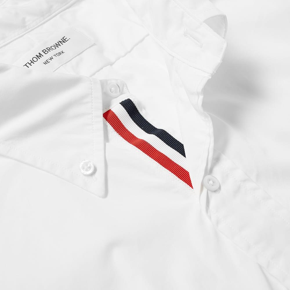 Thom Browne Short Sleeve Grosgrain Placket Shirt - White