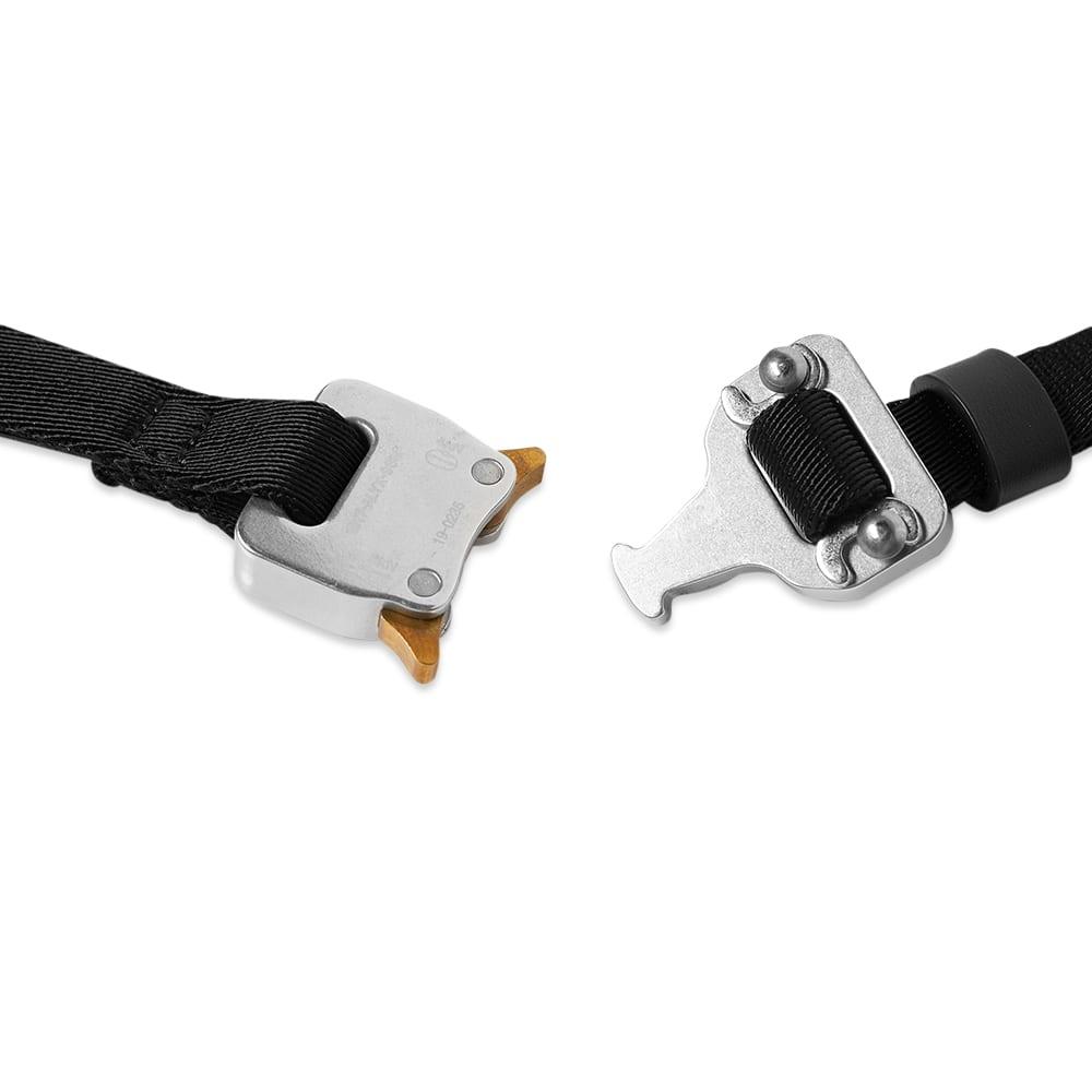 1017 ALYX 9SM Small Rollercoaster Belt - Black & Silver