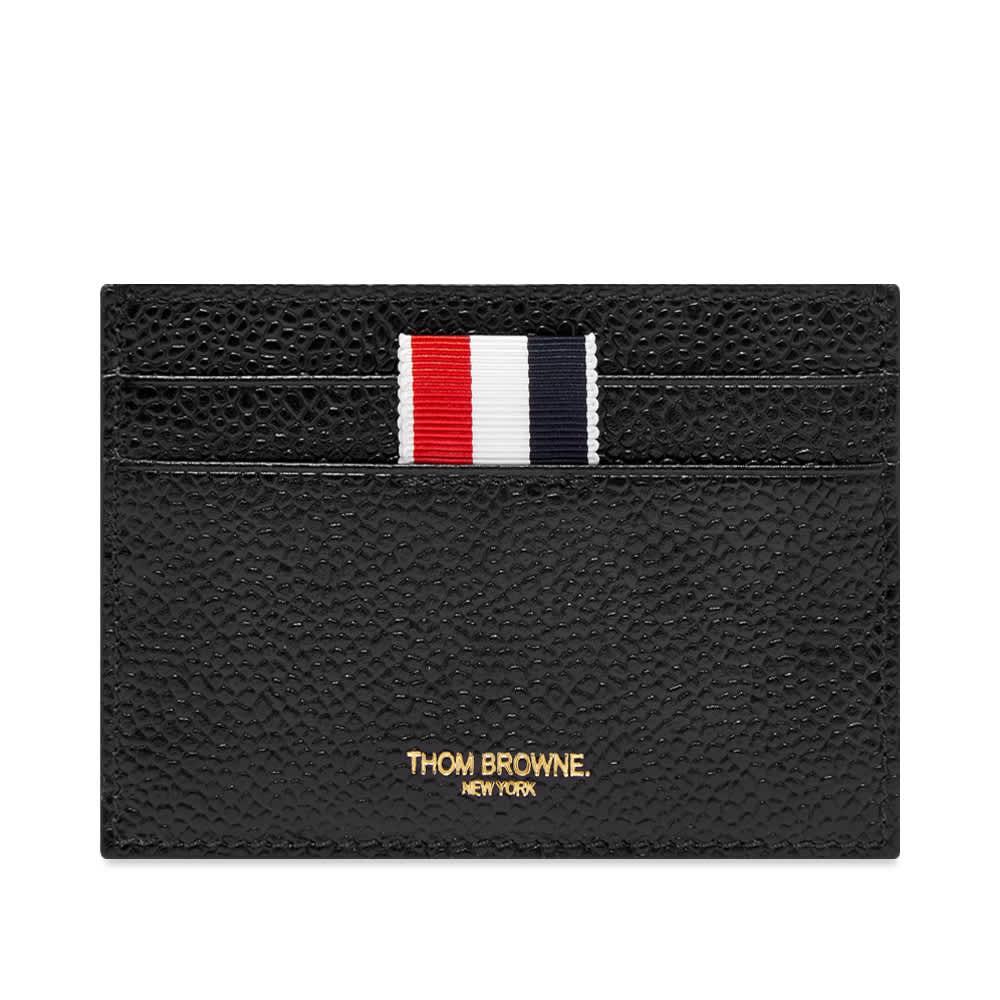 Thom Browne Double Sided Grosgrain Card Holder - Black