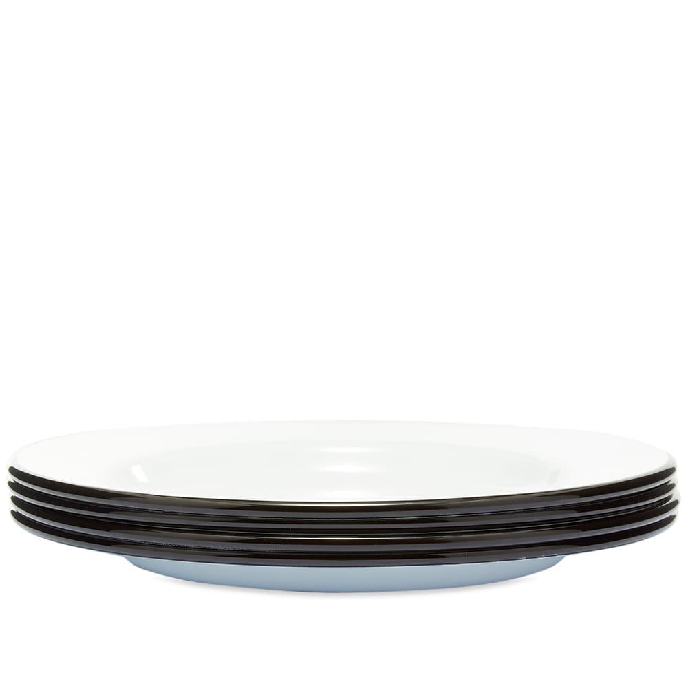 Falcon Enamelware Plates - Coal Black