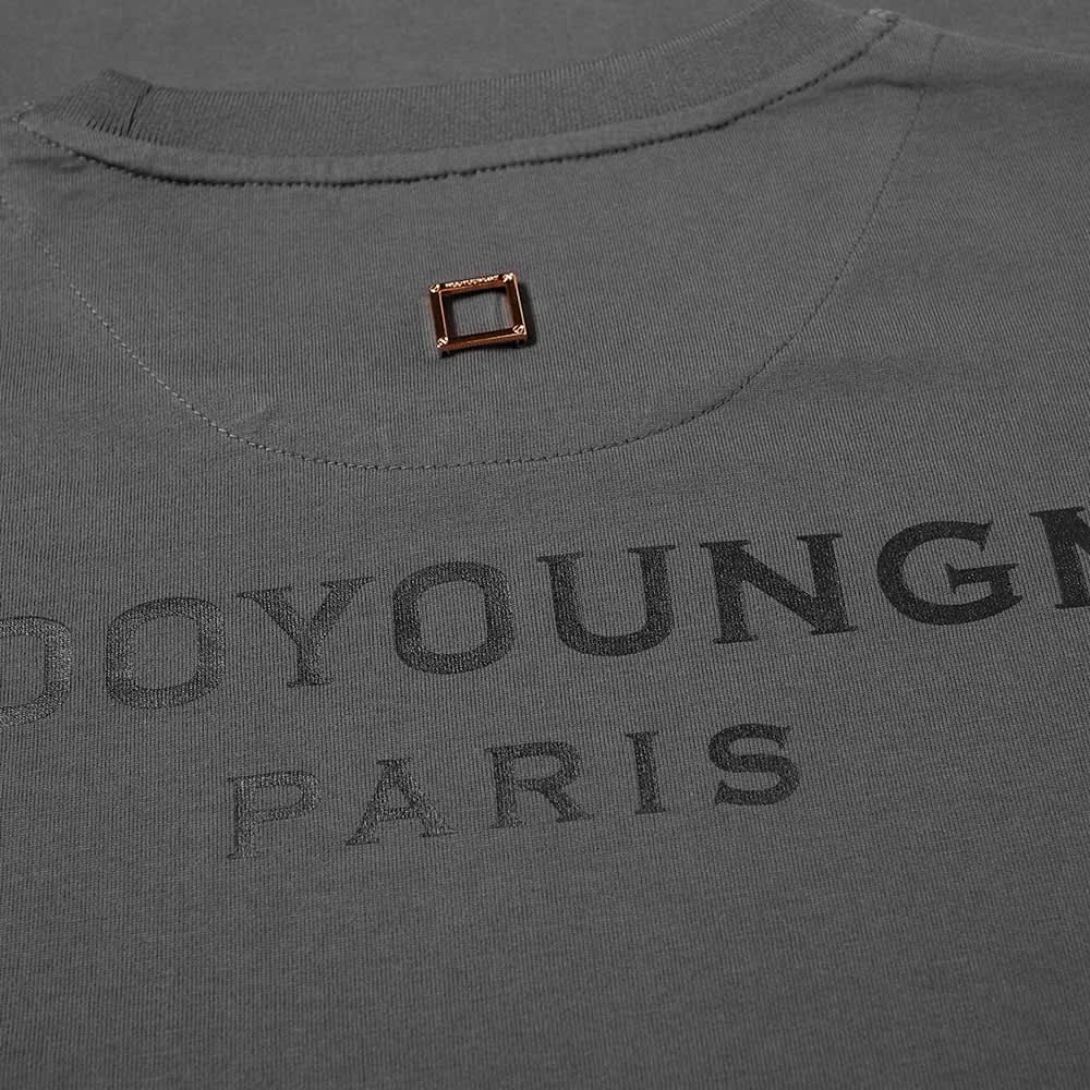 Wooyoungmi Long Sleeve Back Logo Tee - Grey