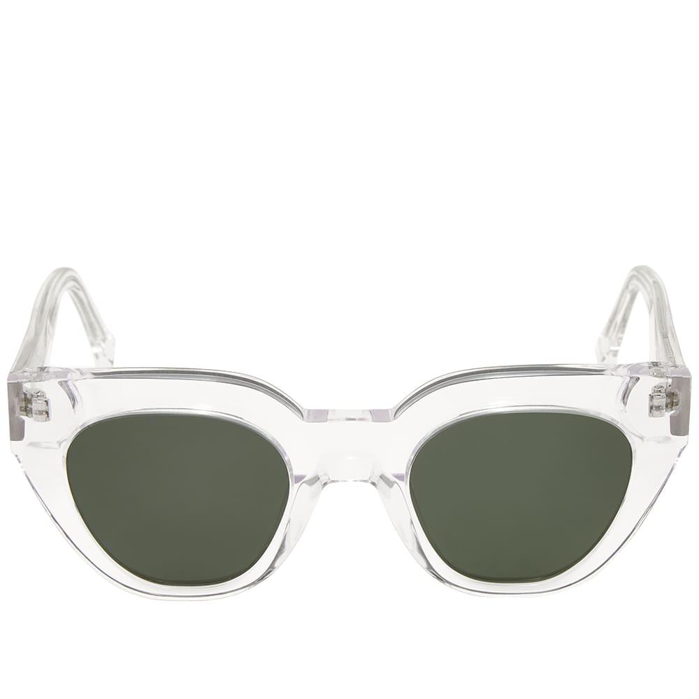 Monokel Hilma Sunglasses - Crystal & Green