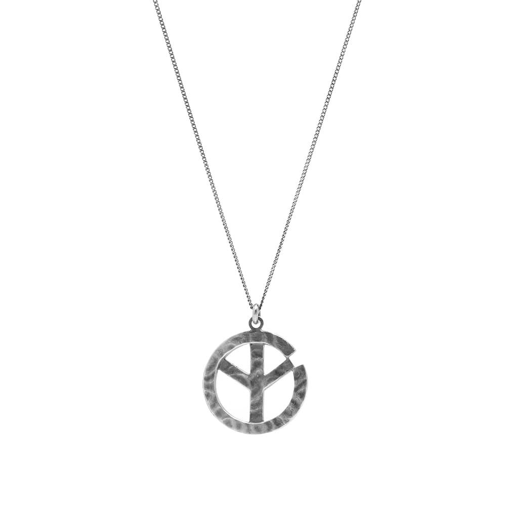 Maharishi War & Peace Handmade Silver Pendant - Silver