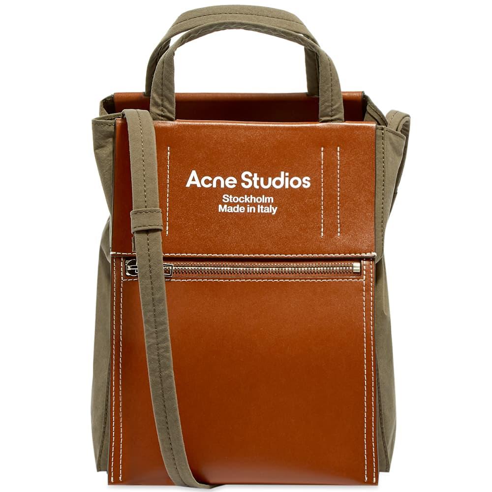 Acne Studios Baker Out S Tote - Dark Brown & Dark Brown