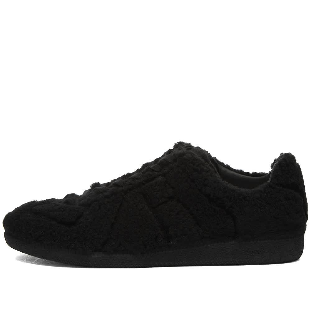 Maison Margiela Fleece Replica Low Sneaker - Black