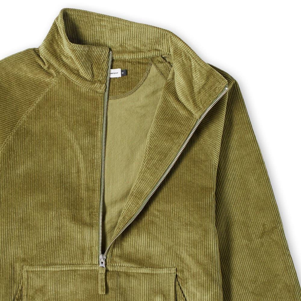 POP Trading Company Cord Half Zip Jacket - Hunting Green