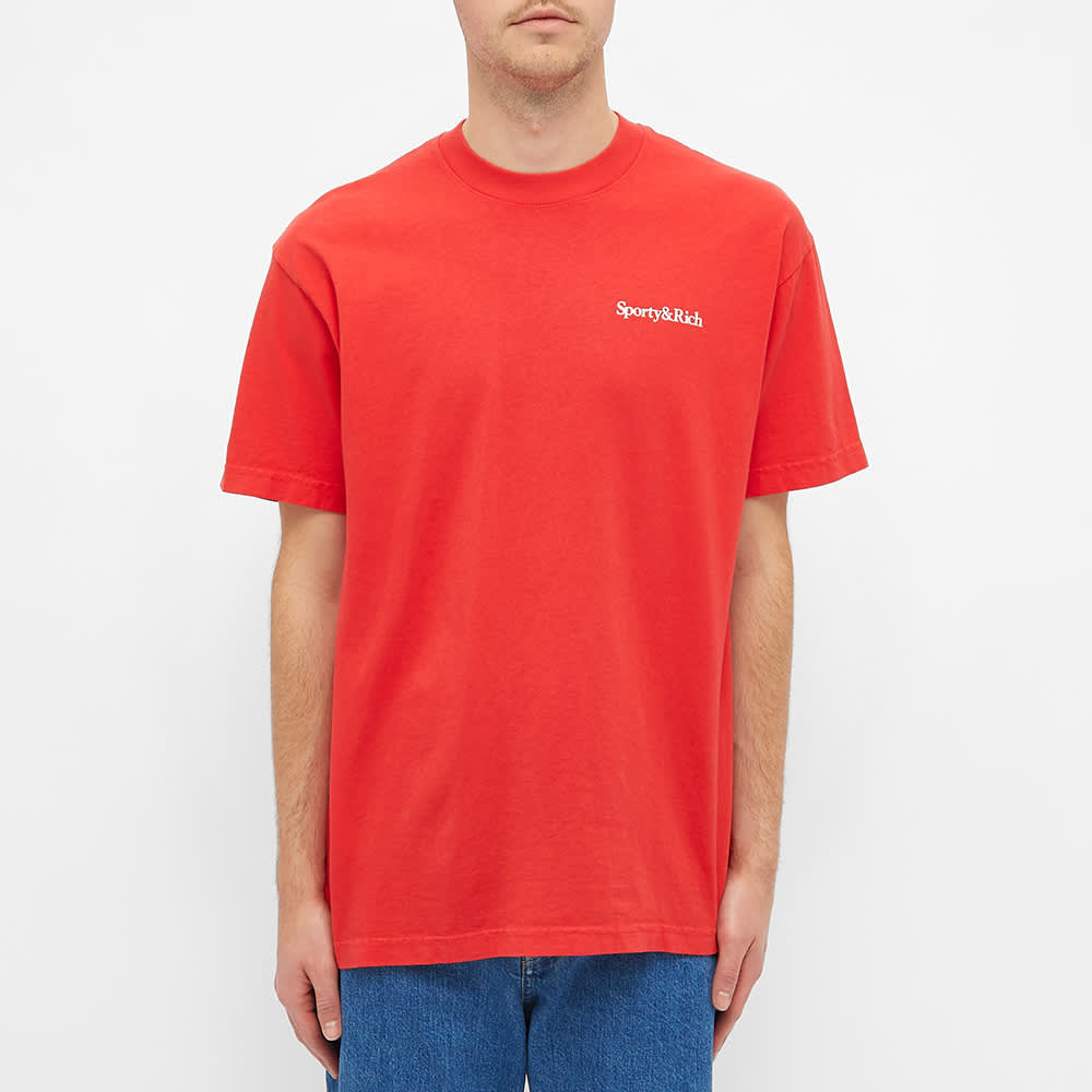 Sporty & Rich Drink More Water Tee - Sport Red & White