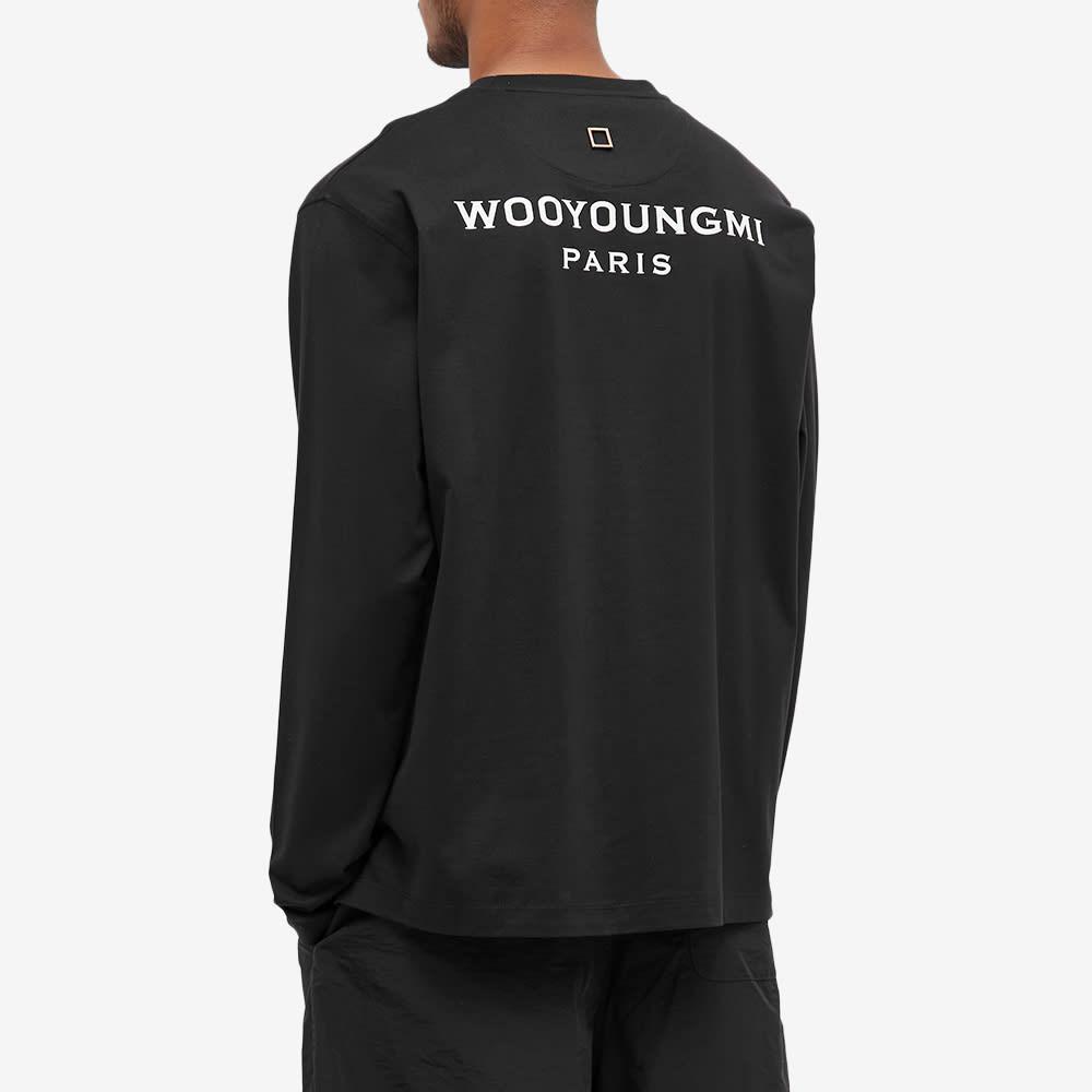 Wooyoungmi Long Sleeve Back Logo Tee - Black