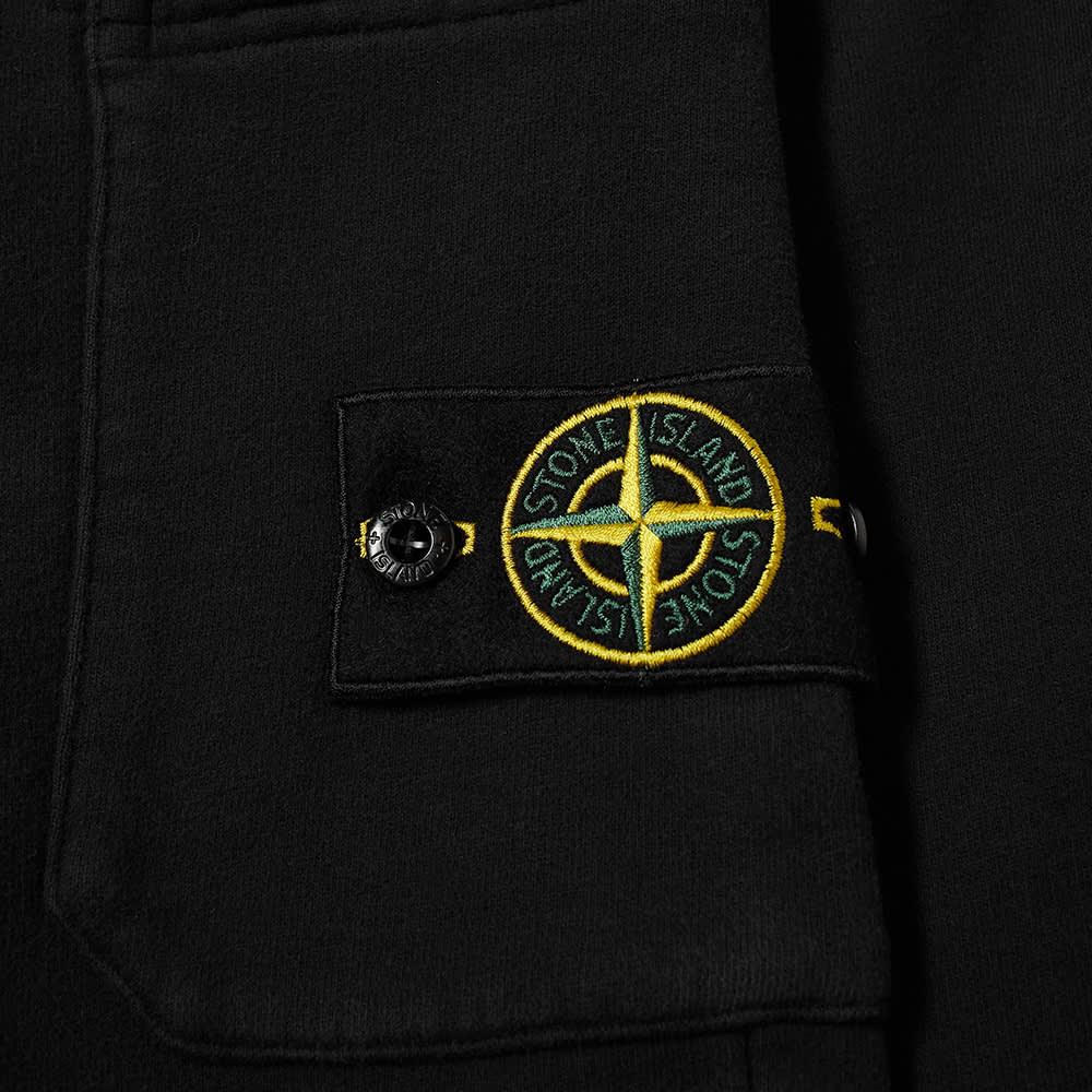 Stone Island Garment Dyed Short - Black