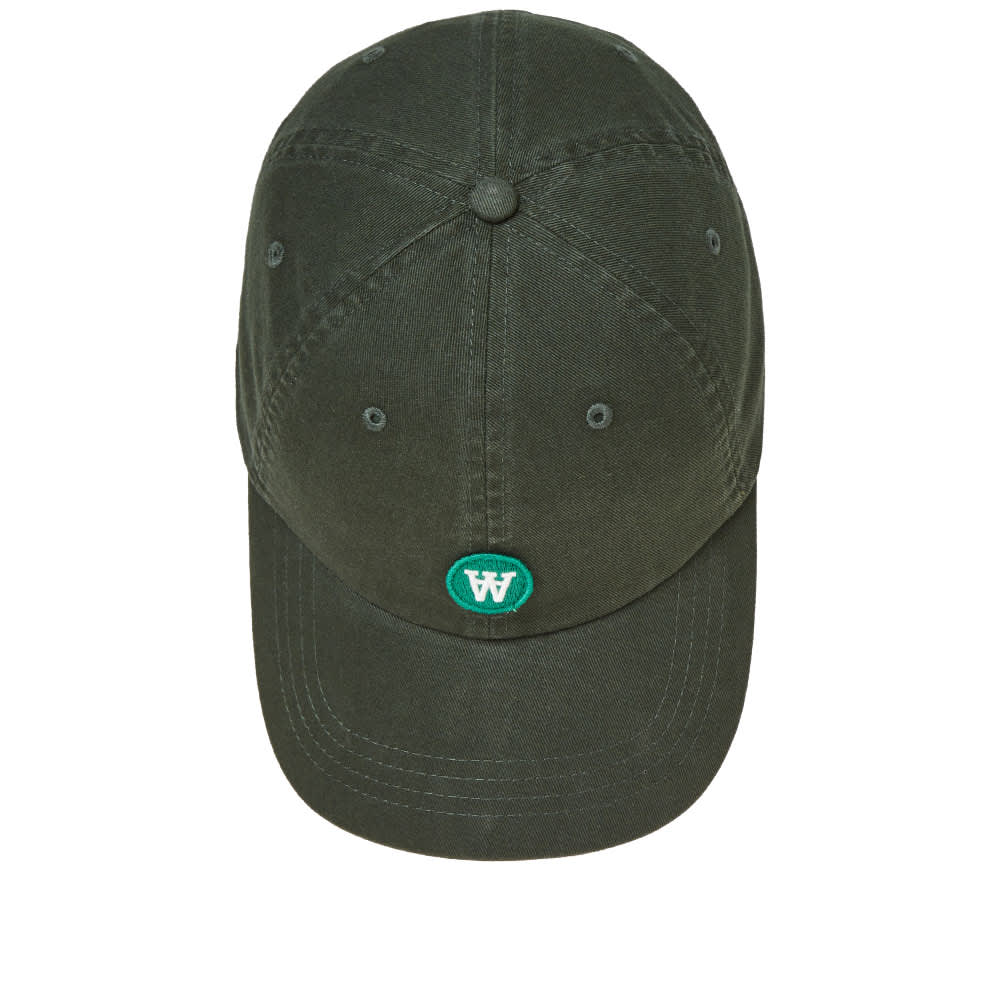 Wood Wood Low Profile Cap - Pine Green