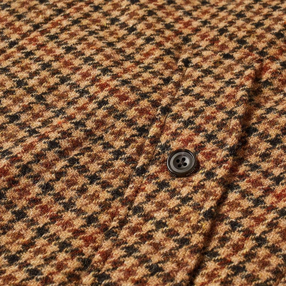Beams Plus Harris Tweed Balmacaan Coat - Gun Club