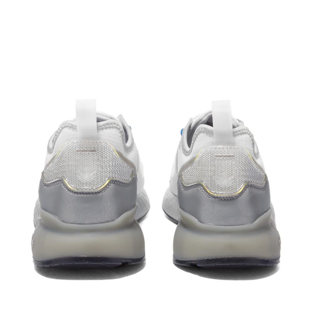 Adidas ZX 2K Boost - White, Silver & Core Black