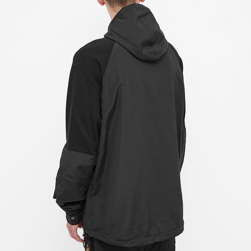 Tobias Birk Nielsen Mixed Fabric Quarter Zip Hoody - Black