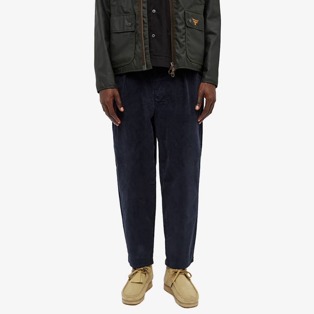 Barbour Frank Cord Trouser - White Label - Navy