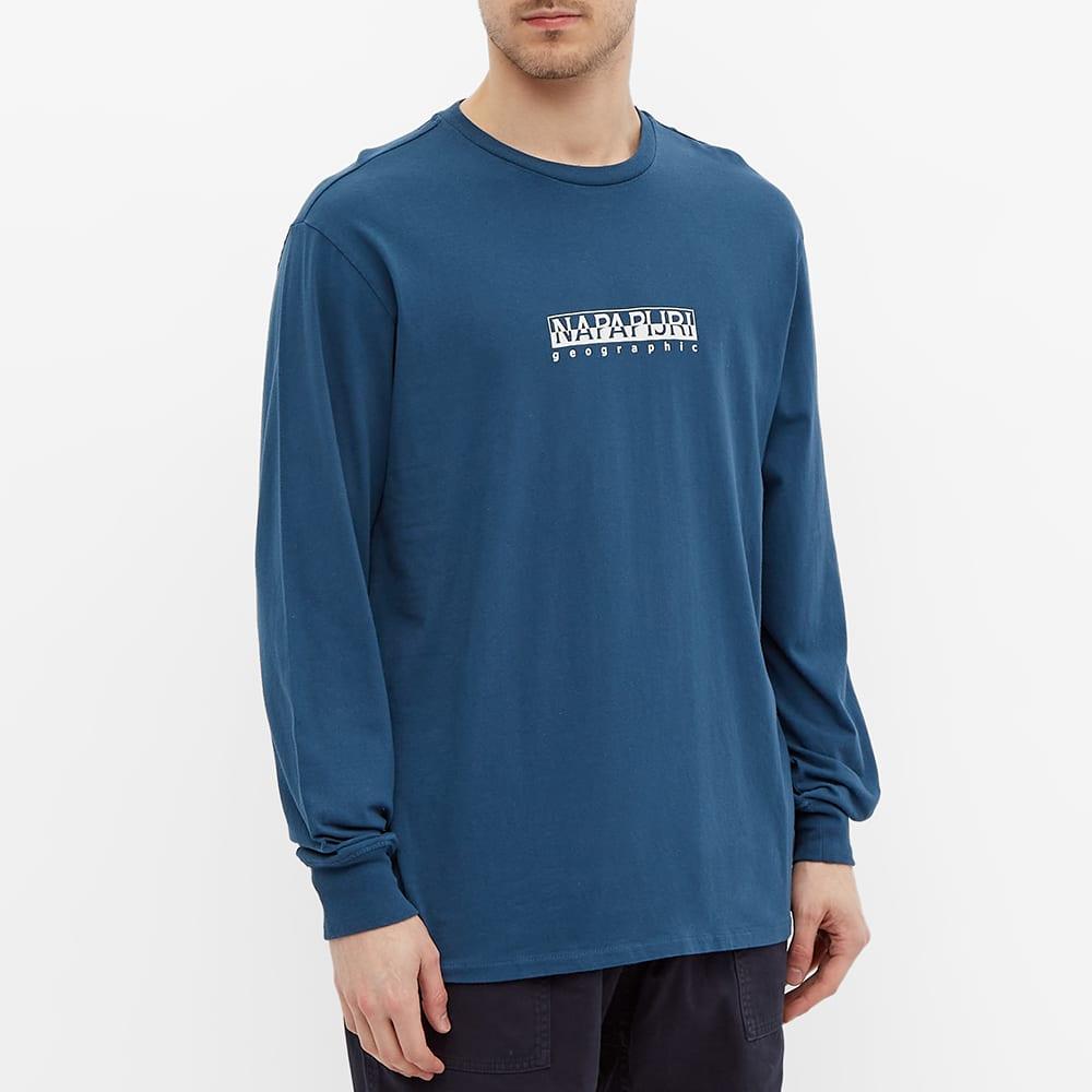 Napapijri Long Sleeve Sox Box Logo Tee - Blue French