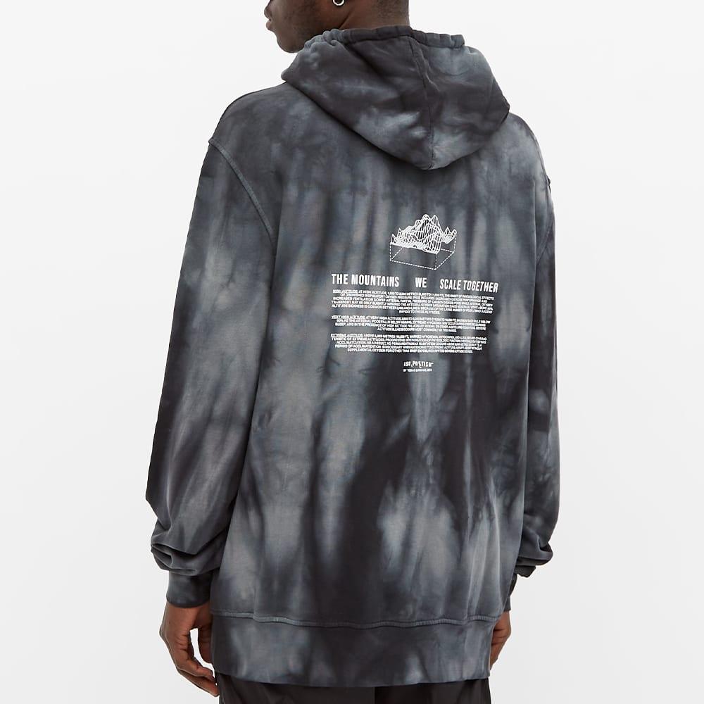 Tobias Birk Nielsen Popover Graphic Tie Dye Hoody - Black & Anthracite