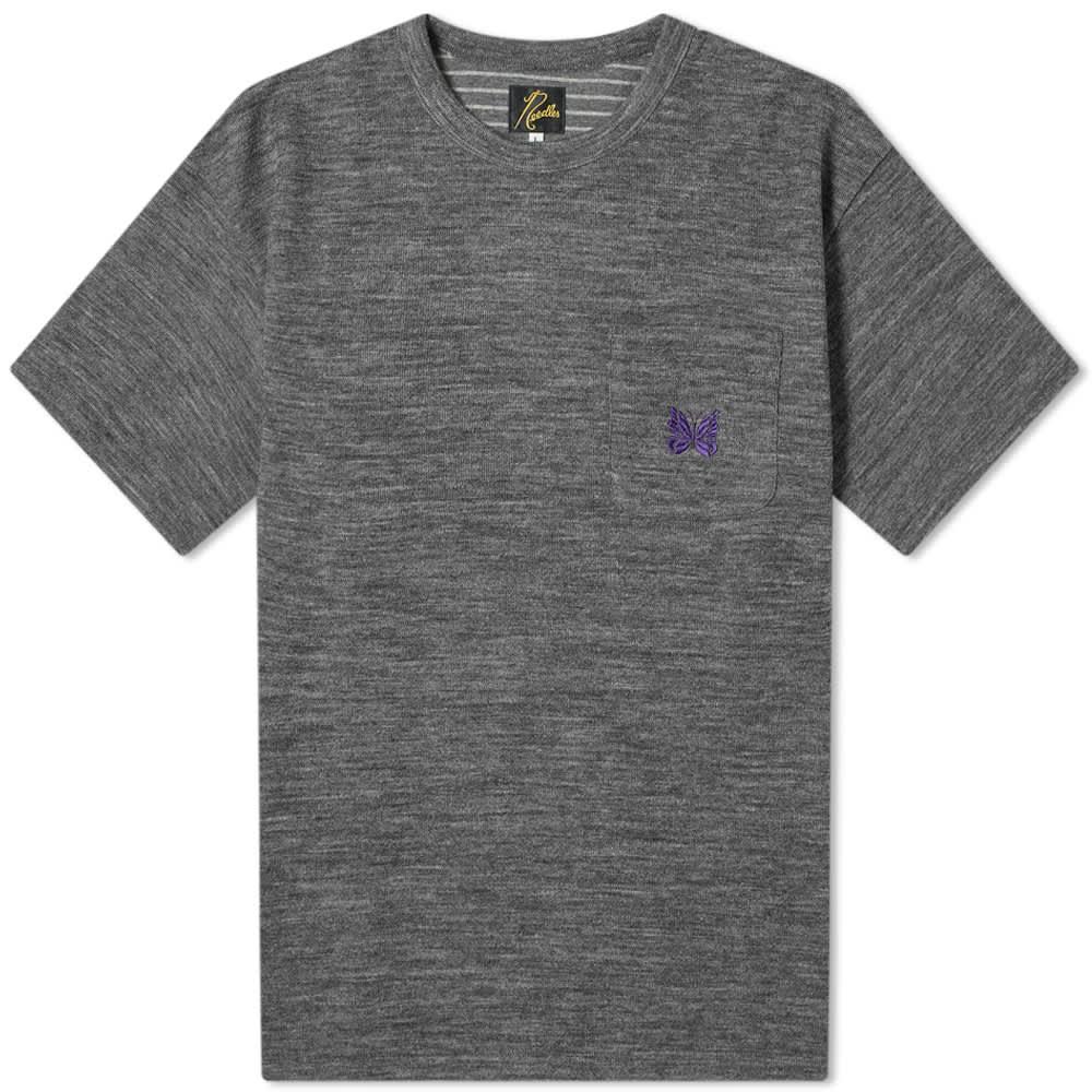 Needles Logo Pocket Tee - Grey