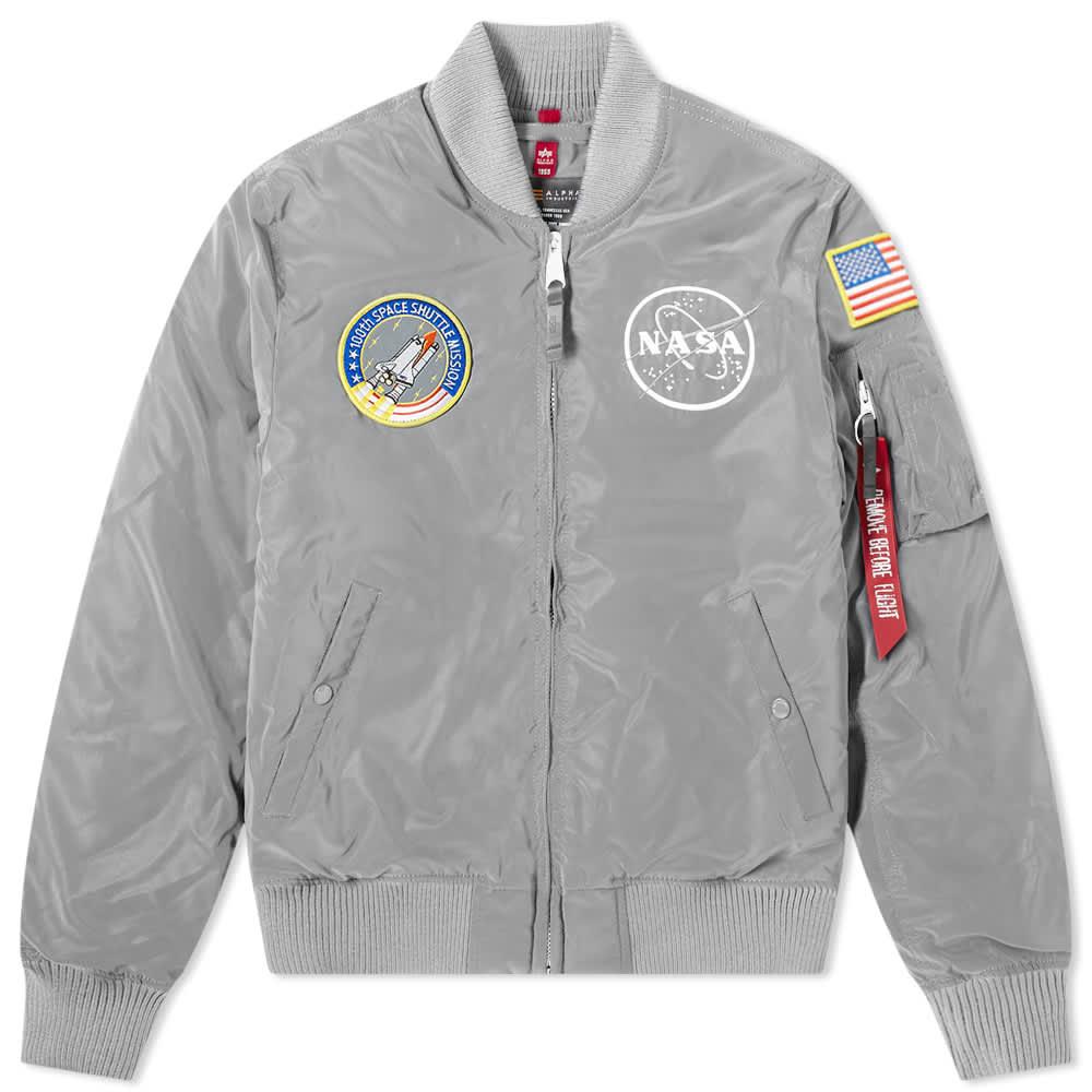 Alpha Industries MA-1 NASA Reflective Jacket - Silver Reflective