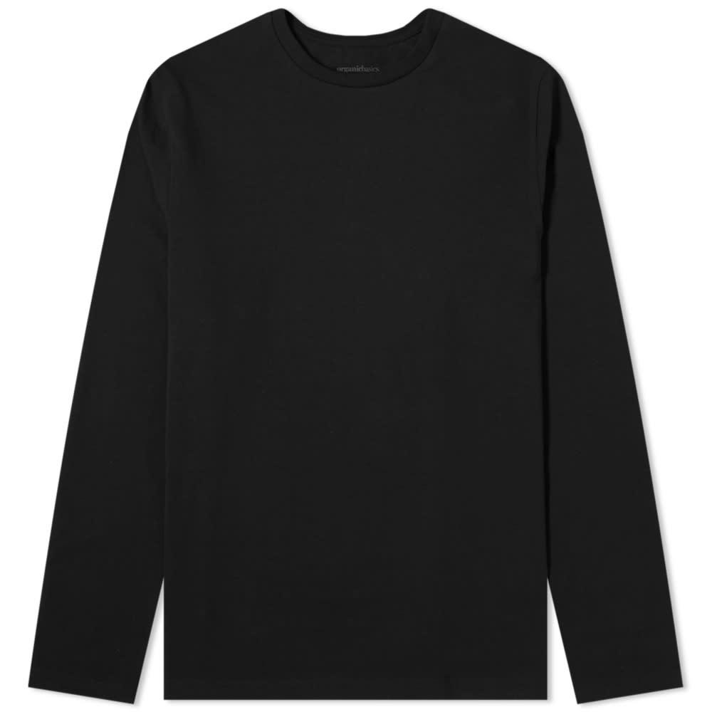 Organic Basics Organic Cotton Long Sleeve Tee - Black
