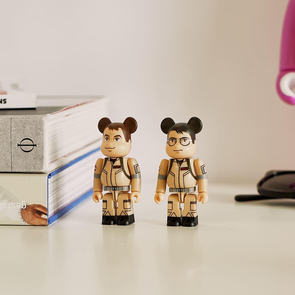 Medicom Ghostbusters Raymond Stantz & Egon Spengler Be@brick Set - Beige & 100%