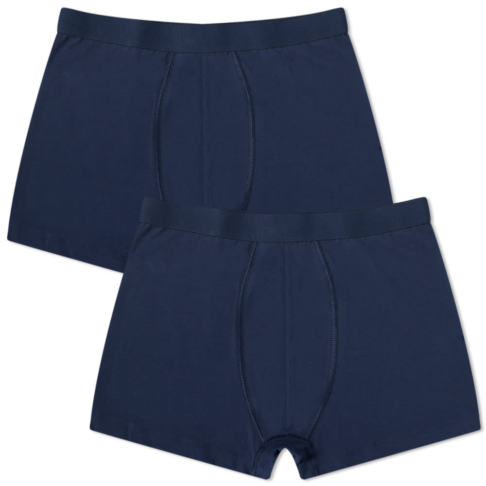 Organic Basics Organic Cotton Boxer Short - 2 Pack - Navy