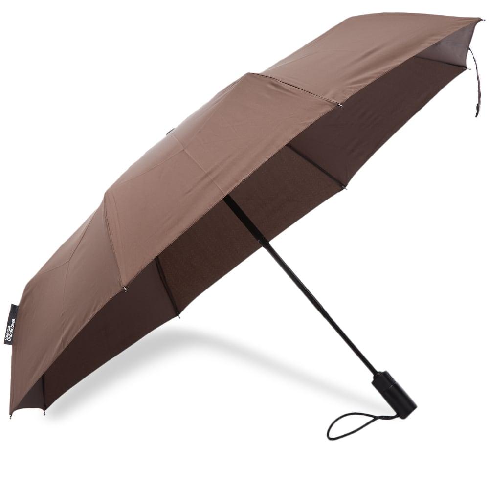 London Undercover Dark Roast Auto-Compact Umbrella - Dark Brown