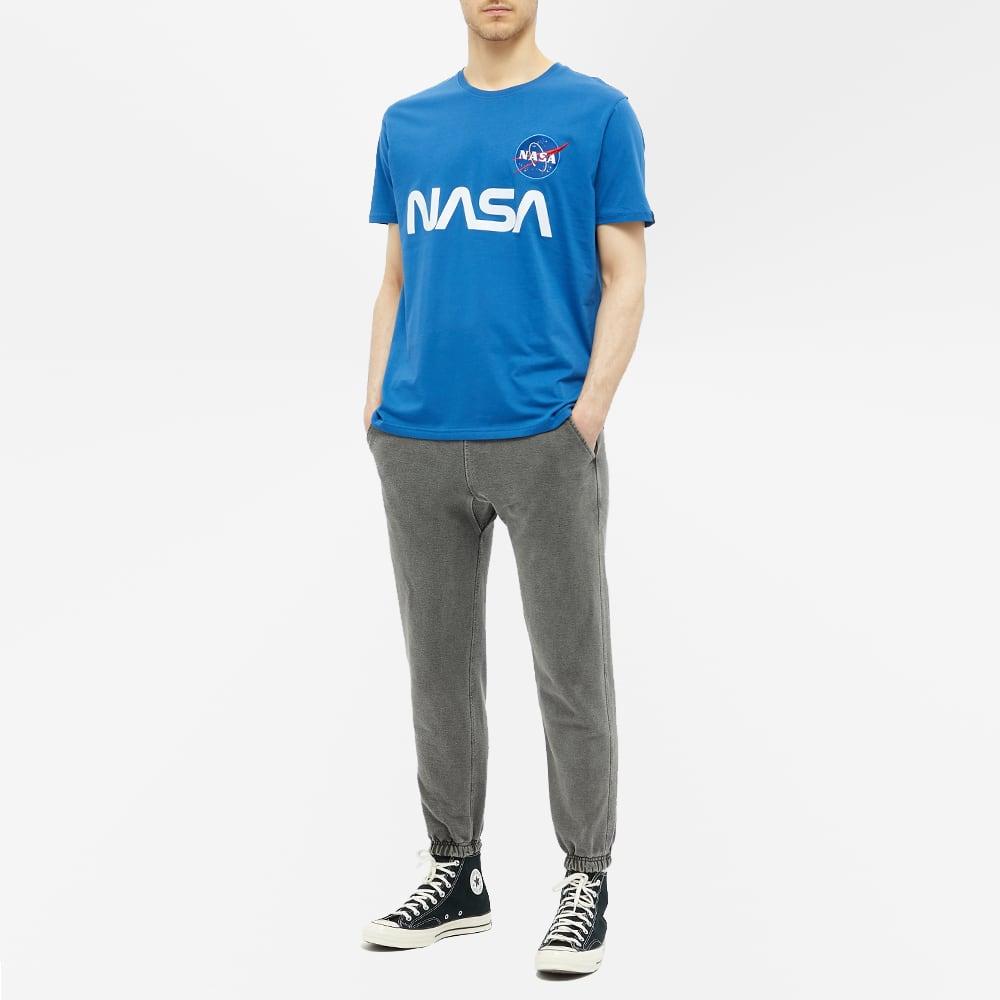 Alpha Industries NASA Reflective Tee - NASA Blue