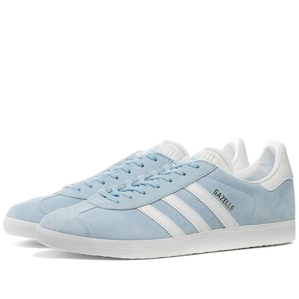 Orgulloso Descongelar, descongelar, descongelar heladas Fuente  Adidas Gazelle Sky, White & Gold Metallic | END.