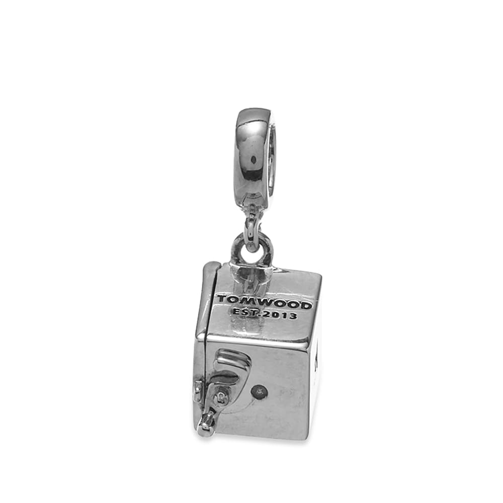 Tom Wood Box Charm - Silver