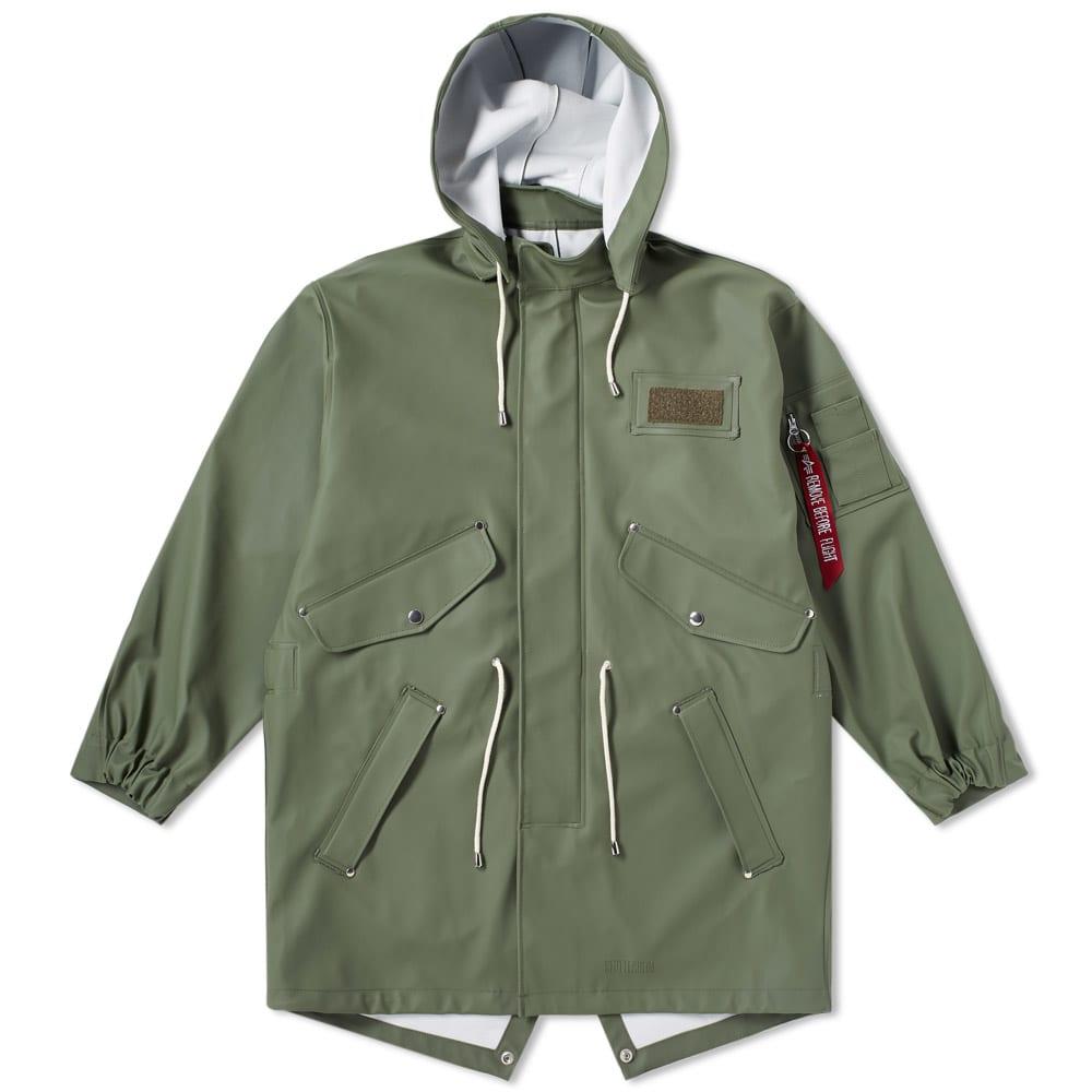 Stutterheim x Alpha Industries M65 Fishtail Jacket - Sage Green