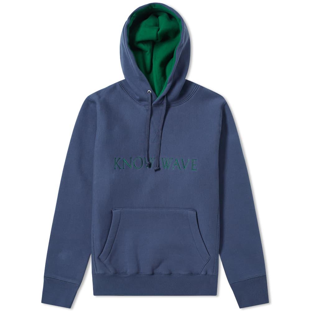 Know Wave Imprint Logo Hoody - Navy & Green