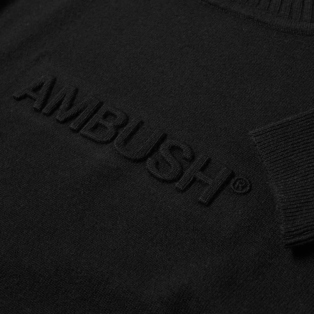 Ambush Embossed Logo Knit Turtleneck - Black