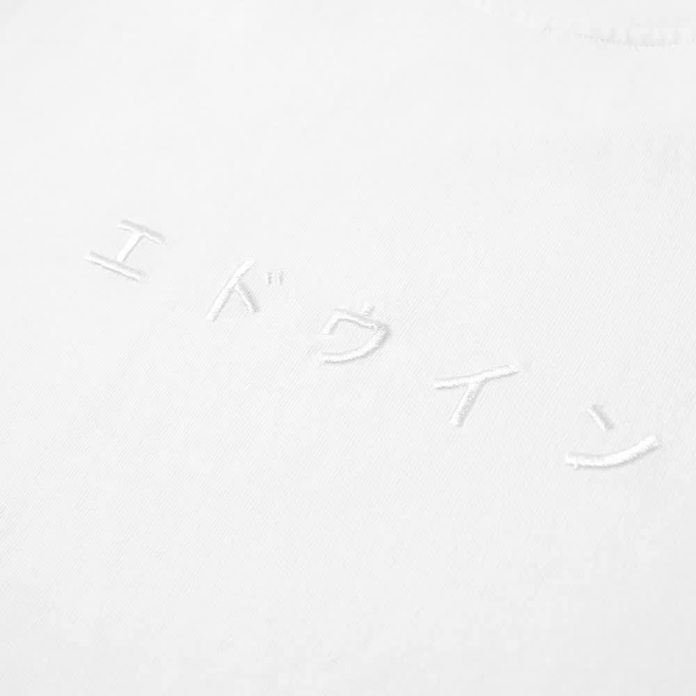 Edwin Katakana Embroidery Tee - White